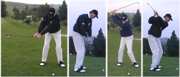 Backswing positions